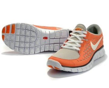 Nike Free Run Running Damen Hellgrau/Orange