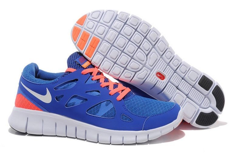 Sale Outlet Nike Free Run 2 Running Damen HimmelblauWeiß