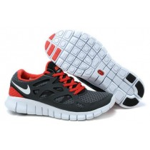 Nike Free Run 2 Running Herren Schwarz/Weiß/Orange Rot