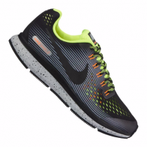 Nike Air Zoom Pegasus 34 Shield Running Kinder Schwarz/Grün/Hellgrau F001 10089727