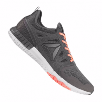 Reebok ZPrint 3D Running Damen Grau/Hellweiß/Orange 10078316