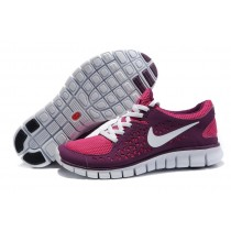 Nike Free Run Running Damen Fireberry/Rose Rot/Weiß