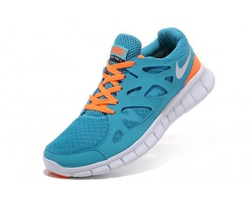 Nike Free Run 2 Running Damen Weiß/Hellblau/Orange